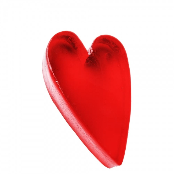 Glycerin Soap Red Heart Asymmetric