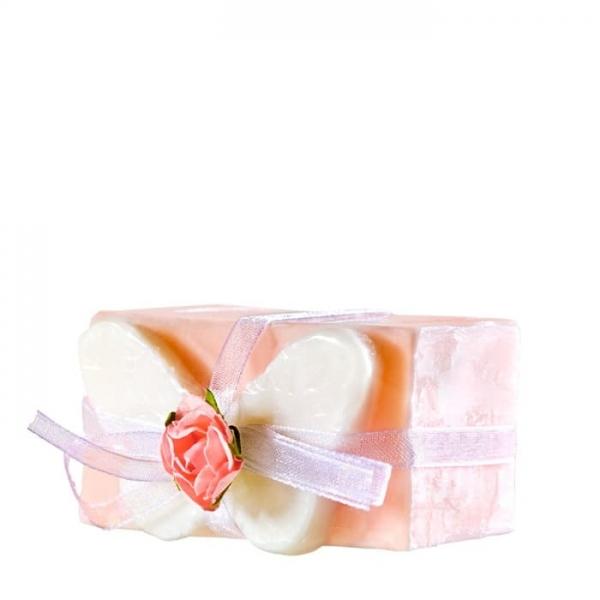 Bloczek z motylkiem różowy